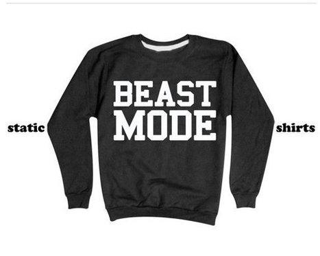 Beast Mode Sweatshirt   Workout Sweater   Fitness Clothing   T-Shirt   Scoop.it