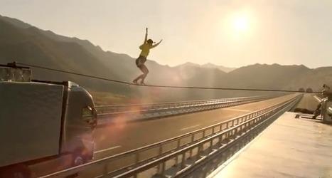 Une cascade incroyable pour Volvo : funambulisme de l'extrême sur une autoroute | Tendances publicitaires et marketing | Scoop.it