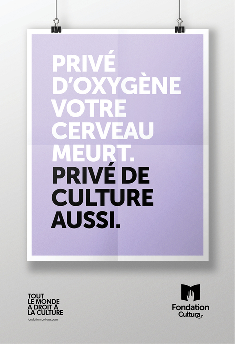 Privé de culture, il décède | L'actualité de la réclame internationale | Scoop.it