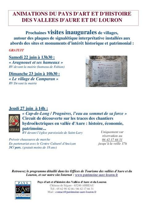 Inaugurations des plaques signalétiques de Camparan le 23 juin - Pays d'Art et d'Histoire   Vallée d'Aure - Pyrénées   Scoop.it