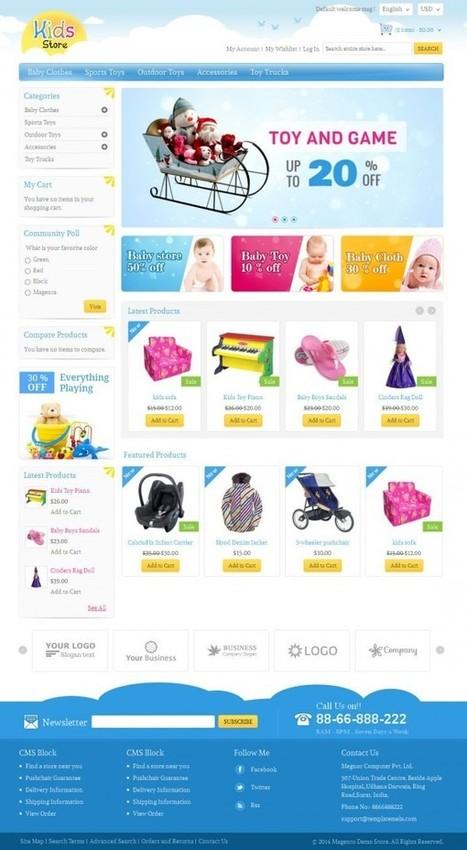 Kids Store Responsive Magento Template - ServerThemes.Net | Best Premium Magento Themes | Scoop.it