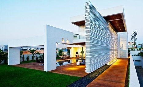 Grand luxe pour cette maison contemporaine sur un terrain escarpé de Caesarea en Israël | Immobilier International | Scoop.it