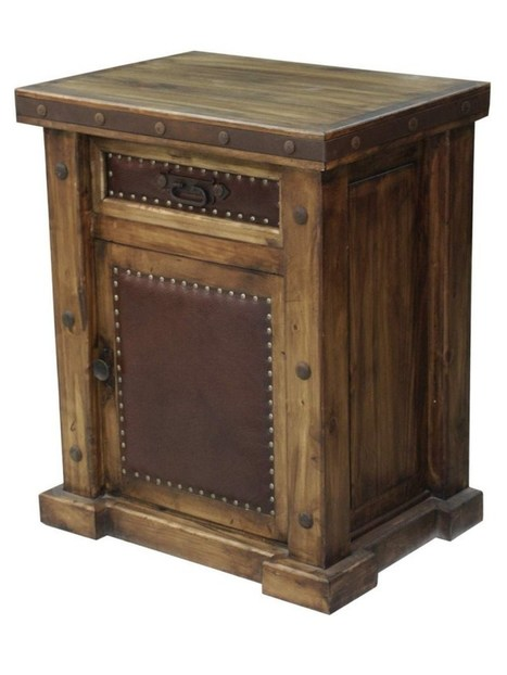 Laguna Rustic Wood Nightstand With Leather Panels | Laguna Rustic Wood Nightstand With Leather Panels | Scoop.it