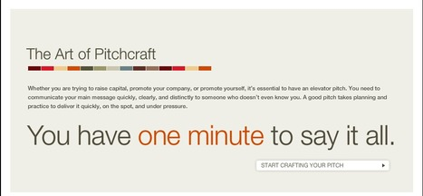 The Art of Pitchcraft - You have one minute to say it all. | Creating readers | Scoop.it