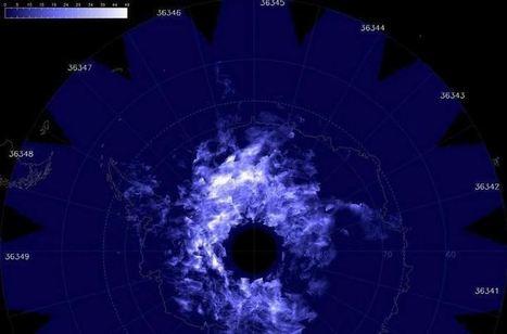 Antártida: nubes de color azul advierten el calentamiento global | Las Personas y el Medio Ambiente. | Scoop.it