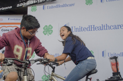 """Arizona 4-H and UnitedHealthcare Expand """"Eat 4-Health"""" Partnership; Use """"Pedal Power"""" to Help Youth Tackle Obesity and Encourage Healthy Lifestyles 