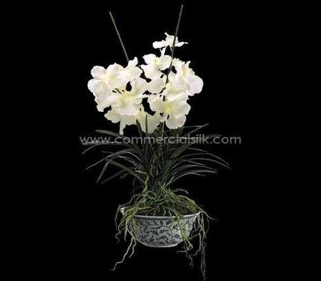 The handcrafted silk Vanda Orchid arrangement | Home Improvement - Landscaping | Scoop.it