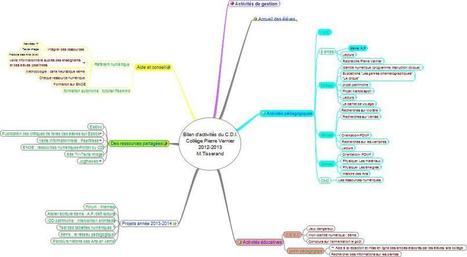 Bilan d'activités du CDI avec une carte heuristique | les cartes mentales dans l'enseignement | Scoop.it