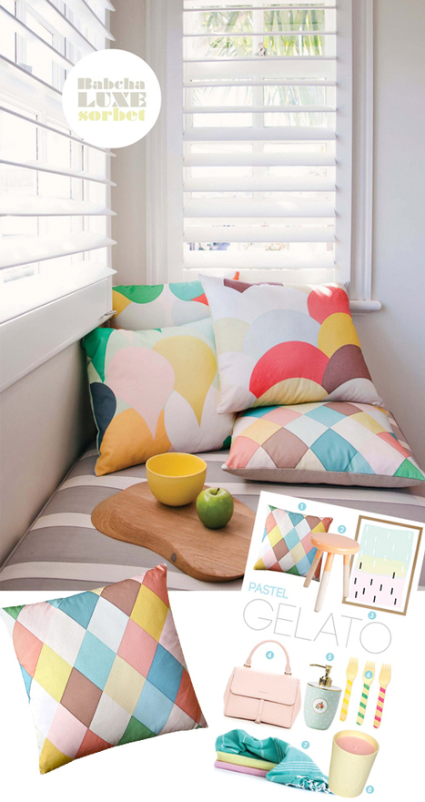 Cushion Spot: Excited about Pastel Gelato | Interior Design | Scoop.it