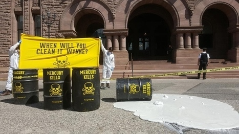 CANADA - Six protesters arrested after white liquid dumped on Queen's Park grounds | Health - Mining Contamination | Scoop.it