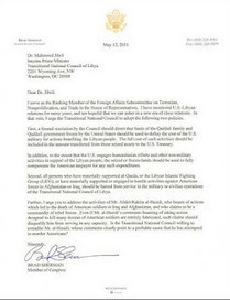 Libya S.O.S.: Letter to Dr. Mahmoud Jibril from Brad Sherman - United States Congress | Saif al Islam | Scoop.it