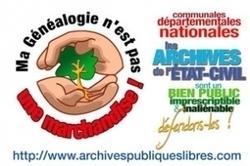Archives et généalogie : dernier moment pour saisir les politiques...   RoBot généalogie   Scoop.it