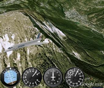 Pilotage virtuel d'un Concorde ou d'un Airbus A380 sur Google Earth | FlightControl | Scoop.it