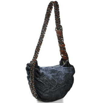 Classy women's denim cross shoulder bags with weaved shoulder strap from Vintage rugged canvas bags | personalized canvas messenger bags and backpack | Scoop.it