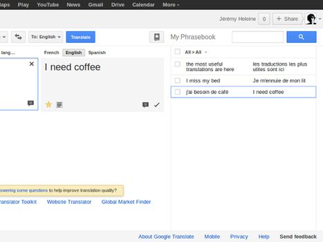 Google Traduction : un phrasebook pour sauvegarder vos traductions les plus pratiques | Time to Learn | Scoop.it