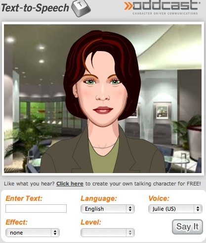 Best Text-to-Speech Demo: Create Talking Avatars and Online Characters | SitePal TTS Demo | Digital Delights - Avatars, Virtual Worlds, Gamification | Scoop.it