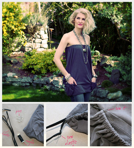 DIY CRAFT PROJECTS: T-Shirt Summer Top DIY   Sewing   Scoop.it