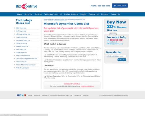 Microsoft Dynamics Customers List | Bizcontrive | Scoop.it