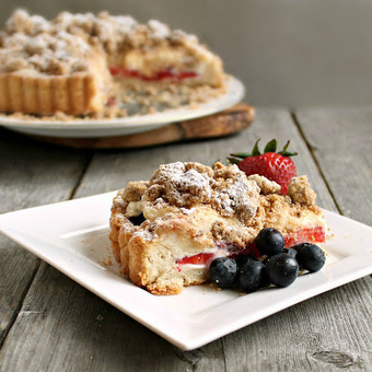 Hungry Couple: Berry Cheesecake Crumb Tart #holidayfoodparty | Fourth of July Food | Scoop.it