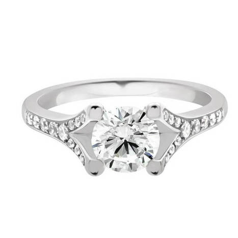 diamond engagement ring by loyes diamonds in dublin in white gold | Engagement Rings Dublin. | Scoop.it