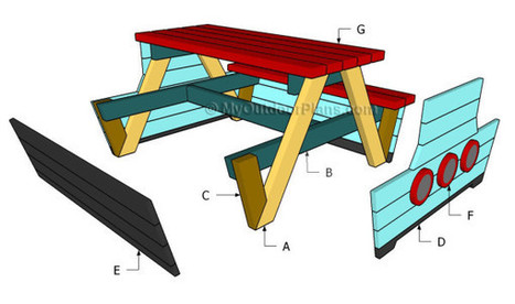 Pirate Picnic Table Plans | Free Outdoor Plans - DIY Shed, Wooden Playhouse, Bbq, Woodworking Projects | D I Y projects | Scoop.it