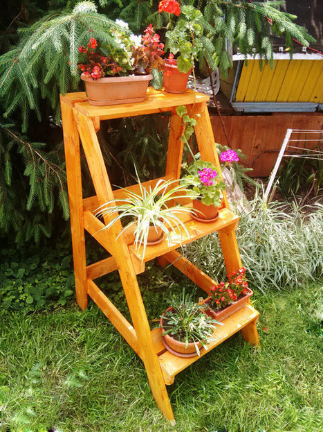 How to build a tiered plant stand howtospecia - Ladder plant stand plans free ...