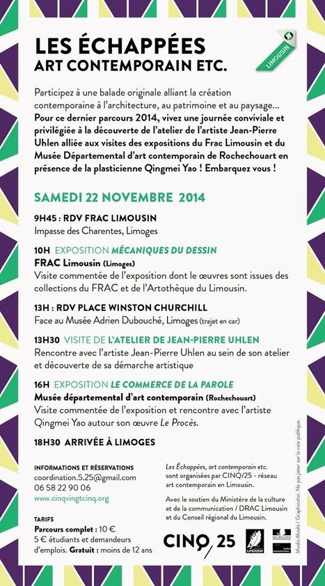 Cinq,25 Réseau art contemporain en Limousin | Haute-Vienne Tourisme | Scoop.it
