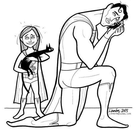 "Cartoonist Creates ""Super Soft Heroes"" Coloring Book to Show Son That Heroes Can Cry 