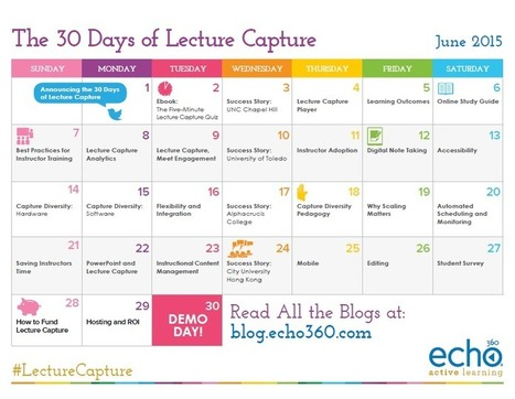 Recapping 30 Days of Lecture Capture: Everything You Need to Know | ANALYZING EDUCATIONAL TECHNOLOGY | Scoop.it