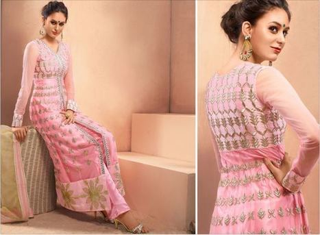 Brides Galleria Designer Anarkali Suits | Style | Strawberry Chiffon RTW LZahra Ahmad Fall Winter Exclusive Collection 2013atest Collection 2013 For Ladies. | Scoop.it