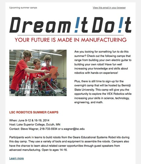 Dream it. Do it. MN Summer Camps | Manufacturing In the USA Today | Scoop.it