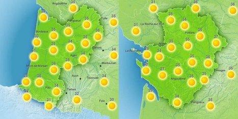 Toujours des fortes chaleurs après les 39 degrés de mardi | BABinfo Pays Basque | Scoop.it