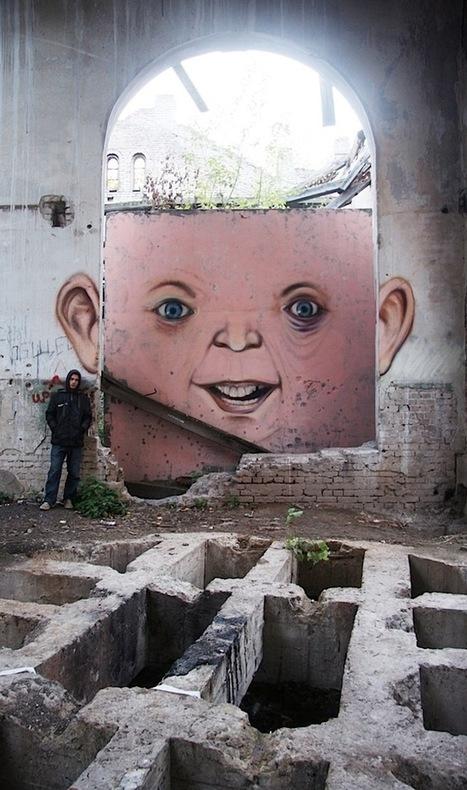 Le street-artiste Nikita Nomerz offre aux murs un visage | Urbanisme | Scoop.it