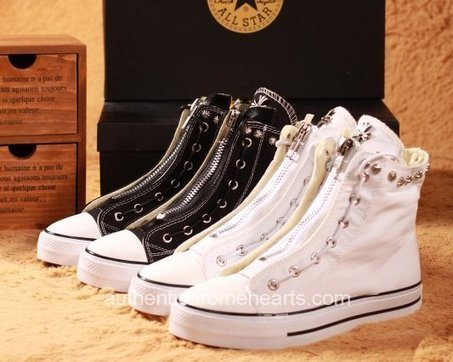 Chrome Hearts Rivets and Crosses White Canvas High Shoes [Chrome Hearts Shoes] - $269.00 : Authentic Chrome Hearts | Chrome Hearts Online | Boutique | Scoop.it