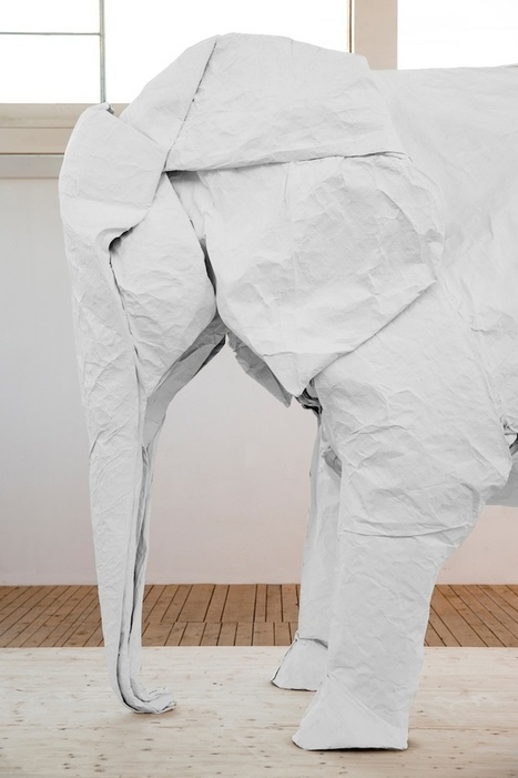 Origami Artist Creates Life-Sized Elephant From One Piece of Paper | Art | Scoop.it