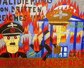 "Alcoholic Outsider Artist: ""False Flag: The Reichstagg Fire Berlin 1933"" January 2012 