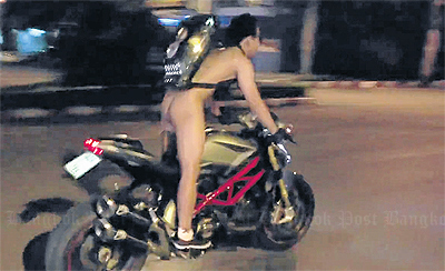 "Motorcyclist nabbed after naked ""Harlem Shake"" Ducati 848 joyride in Chiang Mai video goes viral 
