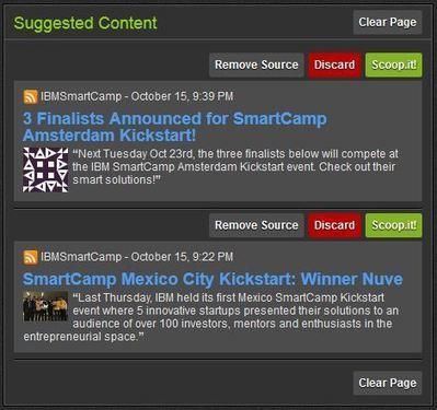 Dossier Curation : Scoop.It, des fonctions de partage et de découverte de contenus 4/6 — La Chaine Web   Orangeade   Scoop.it