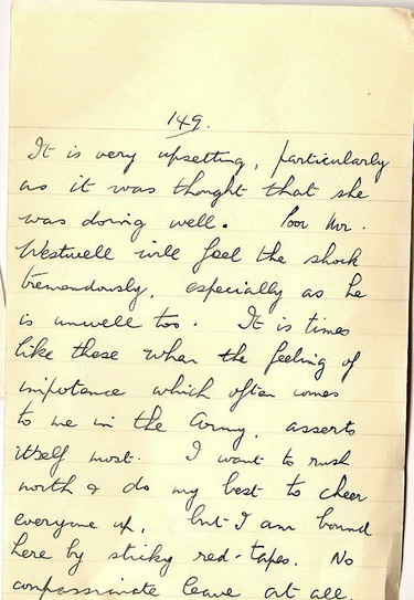 London War Diary: Monday 25th November 1940. Family bereavement.   London War Diary. Original written pages. 1940   Scoop.it