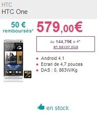HTC One : 50€ de remise sur SOSH | Code Promo Sosh | Scoop.it