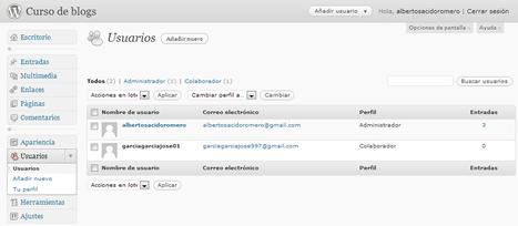 BLOGMAESTRO »Planificación inicial: alta de usuarios en la plataforma Wordpress | Las TIC y la Educación | Scoop.it