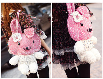 Big My Melody Bags Rhinestone Luxury Pink White For Sale [women-bags-026] - $169.00 : Hello Kitty Bags For Ladies, Anteprima Bags Style Stereo Hello Kitty Bags ,Panda Bags , Diamond Bags For Womens... | Amazing Hello Kitty Bags | Scoop.it