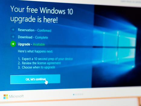 Derniers jours pour basculer gratuitement vers Windows 10 | Veille Informatique par ORSYS | Scoop.it