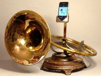 Brass instruments make custom iPad amplifiers - tuaw.com | Multimedia on the iPad | Scoop.it