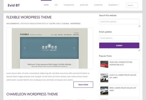 EvidBT Professional Blogger Template | Blogspot templates | Scoop.it