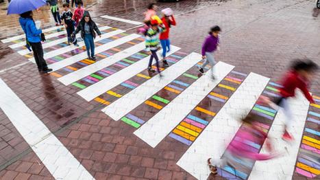 Madrid : les passages piétons prennent des couleurs | Plusieurs idées pour la gestion d'une ville comme Namur | Scoop.it