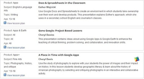 Check out This Huge Library of Google Free Lesson Plans ~ Educational Technology and Mobile Learning | Techy Classroom | Scoop.it