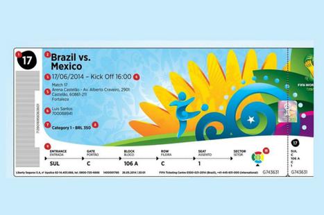 Fifa divulga imagem de ingresso para os jogos da Copa - Circuito MT | Mundial de Futebol 2014 | Scoop.it