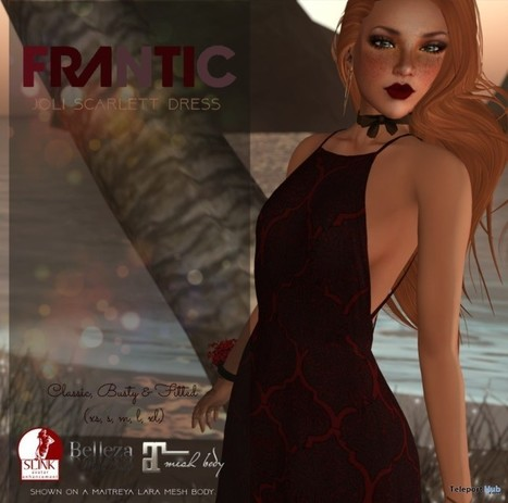 Joli Scarlett Dress Teleport Hub Group Gift by FRANTIC | Teleport Hub - Second Life Freebies | Second Life Freebies | Scoop.it