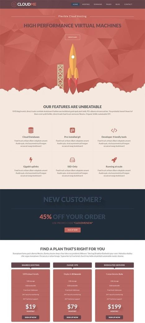 18 High-Quality Responsive HTML Web Hosting Templates | Webtechelp | Scoop.it